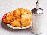 Рецепта Бързи домашни дебели точени мекици с мая и сода (бакпулвер)